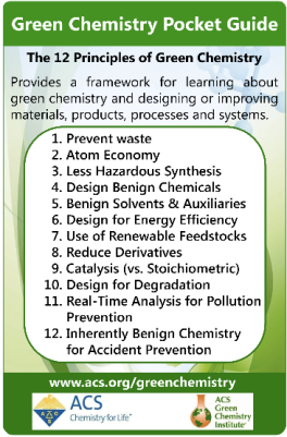 Summary of The Twelve Principles of Green Chemistry