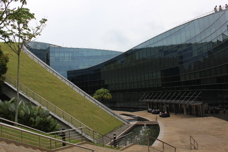 Figure 2: This unique building in Singapore implements green roof to lower heat gain into its interior.
