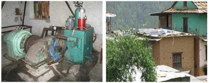In Nepalese villages, we can see a lot of micro-hydropower plants (left) and roof-top photovoltaic generators (right) even in places that can only be reached after walking for 5-7 days. These generators could be interconnected to form a micro-grid and increase the reliability and affordability of electricity in the region.
